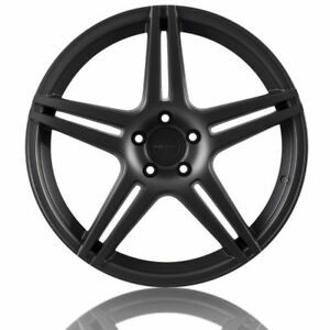 20 X 9 10 5 Azad Incurve Ic S5 Staggered Satin Matte Black Wheels Rims 5x120