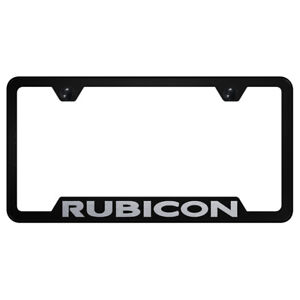 Licensed Black Cut out License Plate Frame For Jeep Rubicon Augd6577