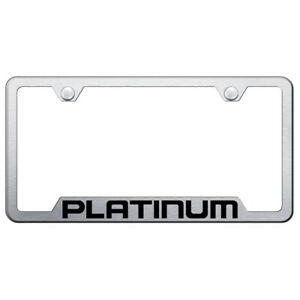 Licensed Brushed Cut Out License Plate Frame For Ford F 150 Platinum Augd5365