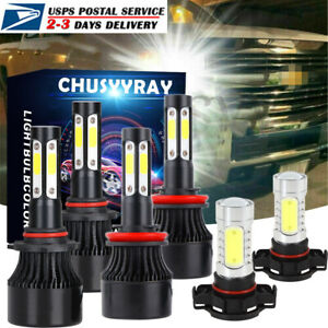 For Chevrolet Silverado1500 2007 2015 6000k Led Headlights Fog Light Bulbs Kit