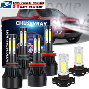 For Chevrolet Colorado 2015 2019 Led Headlight Bulbs Hi low Beam fog Light Combo