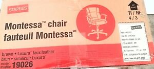 New Montessa Luxura Brown Faux Leather Managers Computer Office Desk Chair