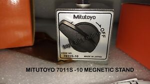 Made In Japan Mitutoyo Magnetic Base 7011 S 10 With Fine Adjusting Arm Boxed
