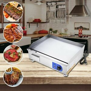 Commercial Electric Countertop Griddle Restaurant Grill Bbq Hot Plate 14 24