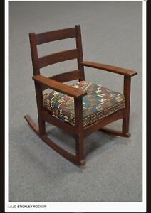 L Jg Stickley Style Rocker Chair
