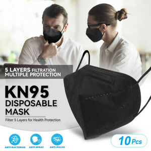 10 Pack Kn95 Face Mask 95 Filter Disposable Respirator 5 ply Protective Cover