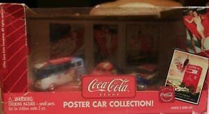 Coca Cola Johnny Lightning Poster Car Collection 1:64 Scale Die Cast