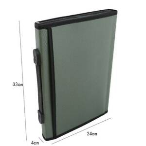 Portable Products Bill Pouch Organizer File Folder Holder Document Bag Bl