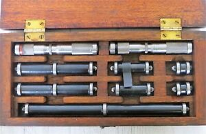 Lufkin End Measuring Rods Micrometers For Jig Bore Machine Full Set Boxed