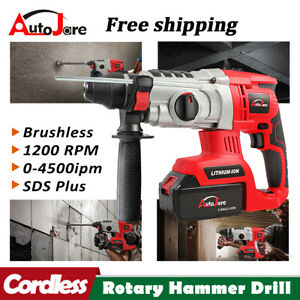 1 Sds Cordless Rotary Hammer Drill Plus Demolition Variable Speed 18v 20v