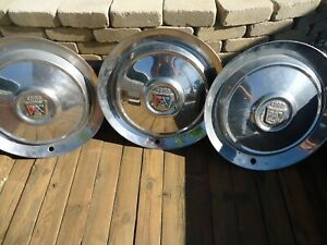 3 Vintage 1950 S Ford Chrome Hubcap Wheel Cover 15 Nice
