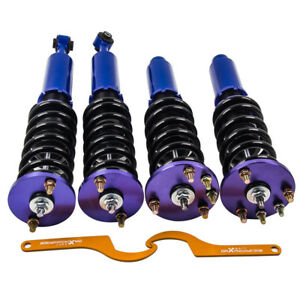 Twin tube Damper Coilover Suspension Kit For Honda Accord 1998 2002 Blue