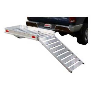 Husky Towing Trailer Hitch Cargo Carrier W ramps 2 Receiver 500 Lbs 50 x30 1 4