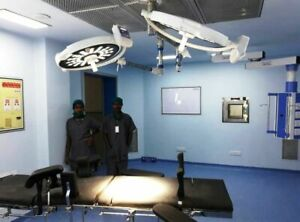 Hospital Led Operation Theater Light Surgical Examination Double Ceiling Lamp