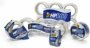 New Duck Hp260 Packing Tape 4 Rolls With Dispensers 1 88 Inch X 60 Yard Clear