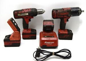 Snap On Bundle Impact Ct8850 Drill Cdr7850h Light Ctl8850o W Charger