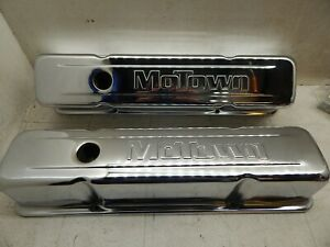 Vintage Motown Chrome Valve Covers Sbc World Products
