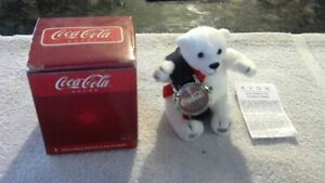 Rare Vintage Original New Old Stock Coca Cola Watch & Bear W/Box 2003