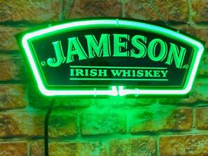Jameson Irish Whiskey 3d Carved Neon Light Sign 14 Beer Cave Gift Lamp Bar
