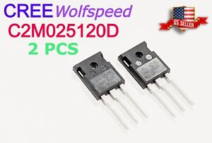 2 Pcs New Cree C2m0025120d Silicon Carbide Mosfet 25 Mohm 1200 V sic Fet