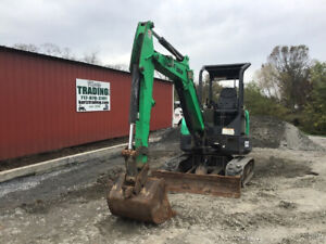 2012 Bobcat E32 Hydraulic Mini Excavator W Kubota Diesel Engine Only 2400hrs