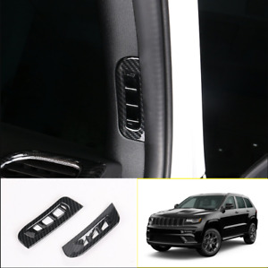 For Jeep Grand Cherokee 11 2020 Carbon Fiber A Pillar Air Outlet Vent Trim Cover