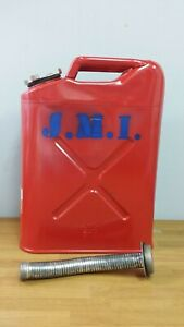 Blitz Usa Red Metal Gasoline Gas Jerry Can 5 Gallon Blitz With Metal Spout