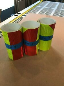 Orafol Conformable Chevron Fluorescent Lime Red Reflective Sheeting Safety Tape