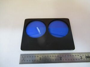 Zeiss Germany Stereo Blue Filter Slide Microscope Optics Pc As Pictured 3k a 72