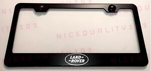 Laser Engraved Land Rover Stainless Steel Finished License Plate Frame