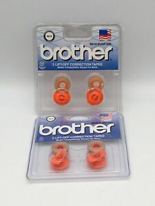 Lot Of 2 Packs Brother 3010 Lift off Correction Tapes New