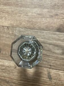 Antique Glass Crystal Door Knob 12 Point