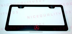 Mercedes Benz Stainless Steel Black Finished License Plate Frame Rust Free