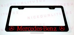 Mercedes Benz Red Stainless Steel Black Finished License Plate Frame Rust Free