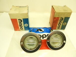 Nos Mopar 1971 Station Wagon Reverse Lamp Pair 3403862 Chrysler Dodge Plymouth