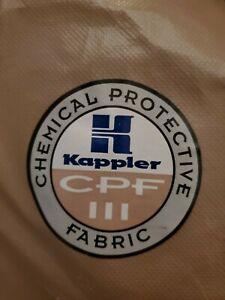 Kappler System Cpf 3 Hazmat Protective Suit Coverall Size Md