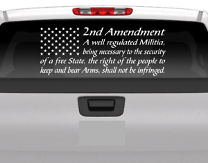 American Flag 2nd Amendment Vinyl Usa Decal Sticker Car Q Truck Window Patriotic