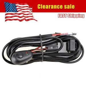 Led Work Light Bar Remote Control Wiring Harness Switch Kit Relay Drl Fog Lamp