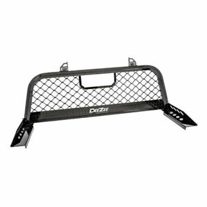Deezee Ultramesh Headache Rack Blk For Gm ford dodge Full Size Truck Frnt Of Bed