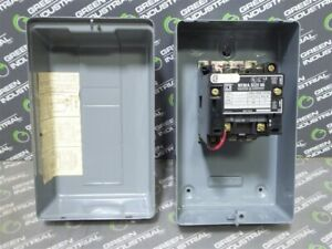 Used Square D 8502 Sao 11 Enclosed Contactor 120v 60hz 1 3 To 1 Hp