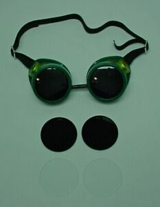 Oxweld Welding motorcycle Goggles Nos W dark clear sun glass Lenses Steampunk