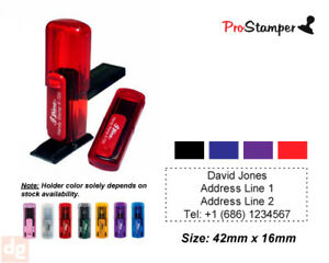Pocket Size Personalized Name Address Pre Inking Rubber Stamp