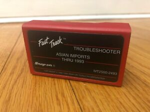Snap On Mt2500 2493 Cartridge Fast Track Troubleshooter Asian Thru 1993