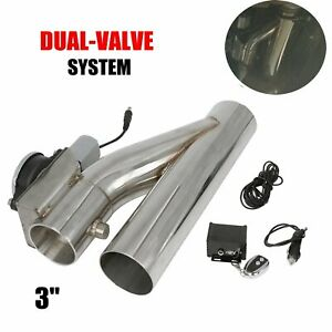3 Electric Exhaust Catback Downpipe Cutout E Cut Out Valve System Kit W Remote