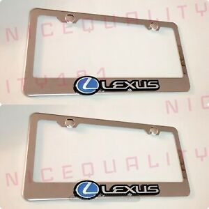2x 3d Lexus F Sport Stainless Steel Chrome Finished License Plate Frame Holder
