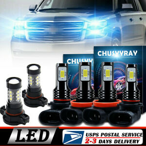Led Headlight Bulb High Low Beam Fog Light Upgrade Kit For Chevy Tahoe 2015 2019