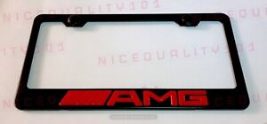 3d Mercedes Benz Amg Stainless Steel Black Finished License Plate Frame