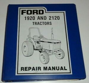 Ford 1920 2120 Tractor Service Shop Repair Manual 2120 Supplement Original