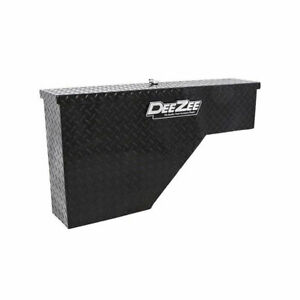 Dee Zee Universal Wheel Well Tool Box Black tread Passenger Side