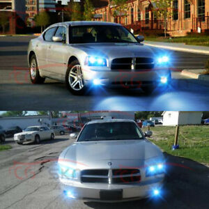 For Dodge Charger 2006 2007 2008 2009 6x 8000k Led Headlights Hi Lo Fog Lights